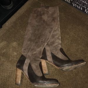 Size 8 FRYE suede knee high boots